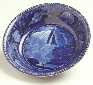 "Historic New England 2004.34 bowl, Enoch Wood and Sons ""Table Rock and Niagara Falls"""